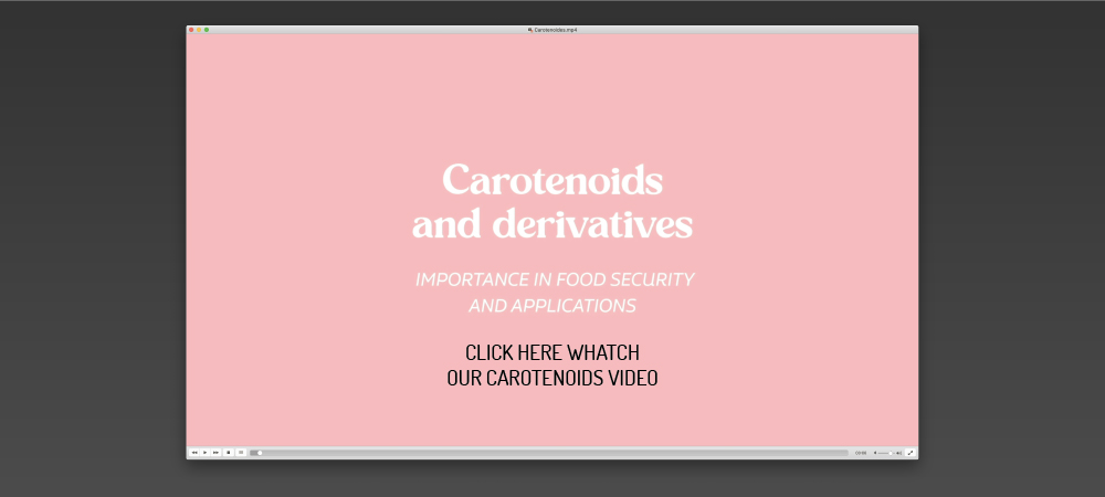 Video carotenoids and derivatives